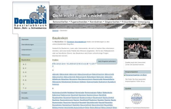Vorschau von www.dornbach.com, Dornbach Baulexikon