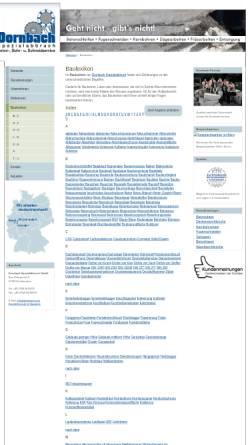 Vorschau der mobilen Webseite www.dornbach.com, Dornbach Baulexikon