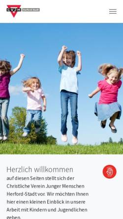 Vorschau der mobilen Webseite www.cvjm-herford.de, Jugendzentrum TOTT des CVJM Herford Stadt e.V.