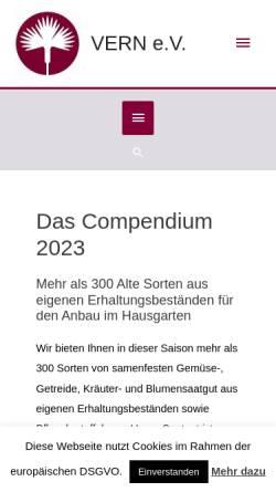 Vorschau der mobilen Webseite vern.de, VERN e.V.