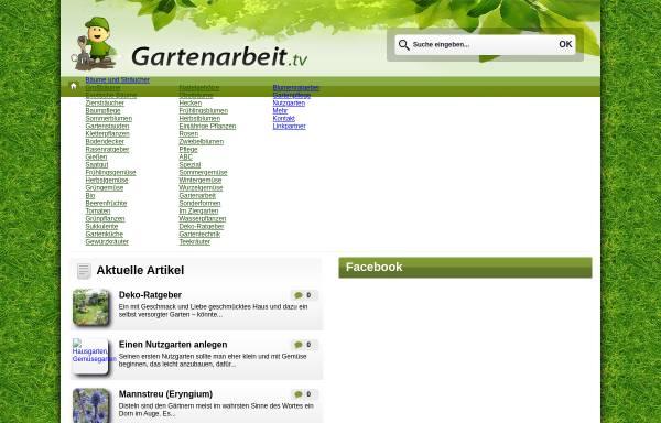 Vorschau von www.gartenarbeit.tv, Informationsportal Garten & Pflanzen – Gartenarbeit.tv