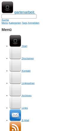 Vorschau der mobilen Webseite www.gartenarbeit.tv, Informationsportal Garten & Pflanzen – Gartenarbeit.tv