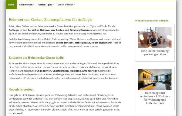 Vorschau von www.heimwerkerqueen.de, Entdecke die HeimwerkerQueen in Dir