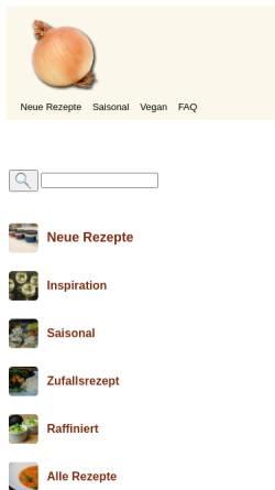 Vorschau der mobilen Webseite www.chuchitisch.ch, Chuchitisch.ch