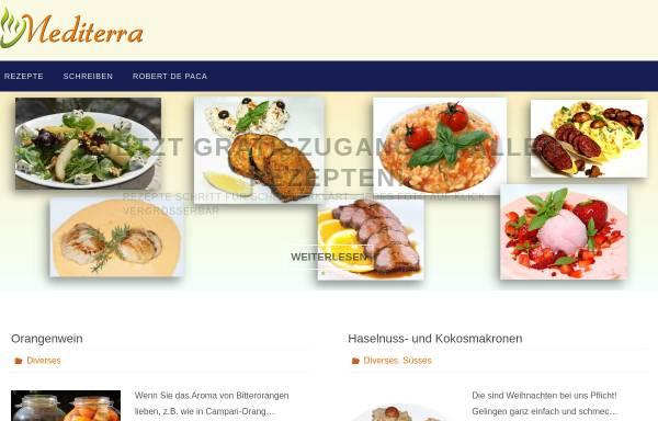 Vorschau von mediterratrade.com, Kochen lernen durch Kochen
