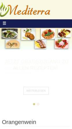 Vorschau der mobilen Webseite mediterratrade.com, Kochen lernen durch Kochen