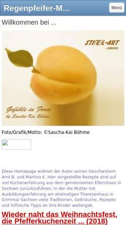 Vorschau der mobilen Webseite sti-e-l-art-by-skb.jimdo.com, Regenpfeifer-Melodie Cook Book