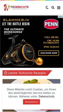 Vorschau der mobilen Webseite www.turkischegerichte.com, Türkische Gerichte