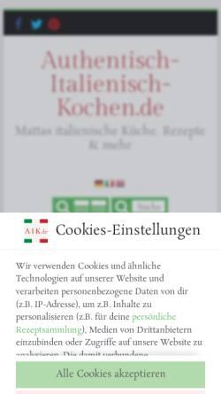 Vorschau der mobilen Webseite italienisch-kochen.blog, Italienisch-kochen.blog/