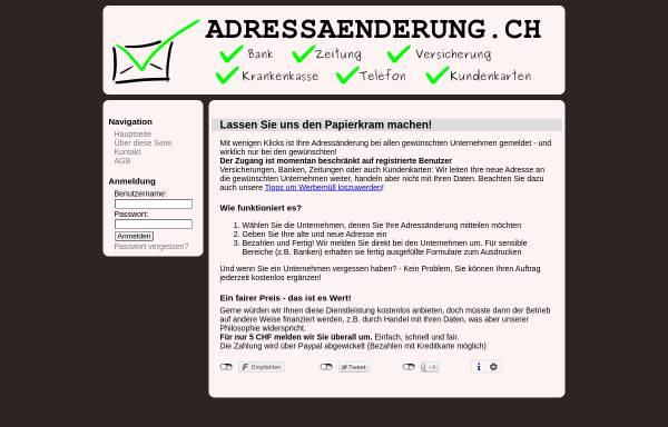 Vorschau von adressaenderung.ch, Adressänderung.ch