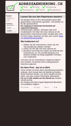 Vorschau der mobilen Webseite adressaenderung.ch, Adressänderung.ch