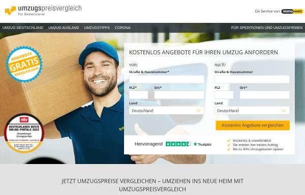 Vorschau von www.umzugspreisvergleich.de, Umzug Preisvergleich