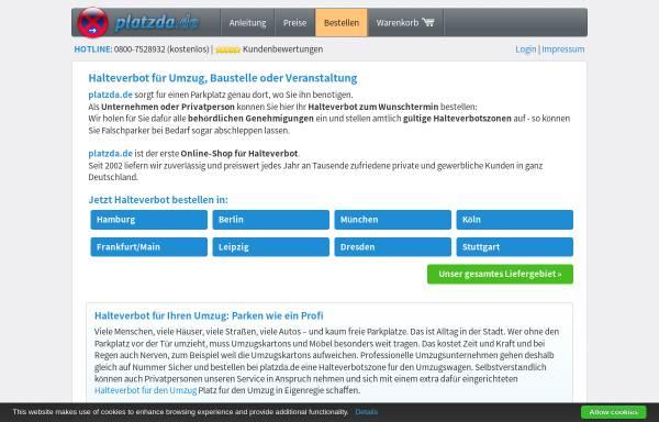 Vorschau von www.platzda.de, Platzda GmbH