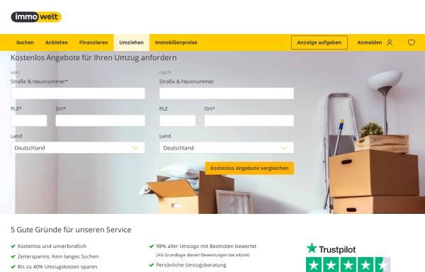 Vorschau von ratgeber.immowelt.de, Umzug - kostenlose Angebote von Umzugsunternehmen
