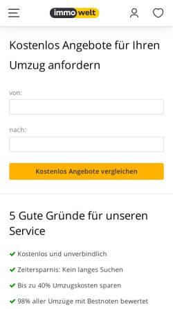 Vorschau der mobilen Webseite ratgeber.immowelt.de, Umzug - kostenlose Angebote von Umzugsunternehmen
