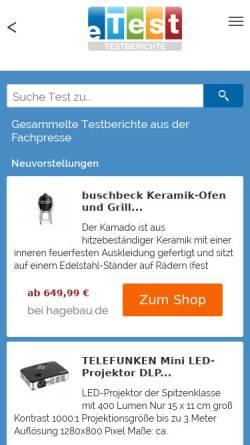 Vorschau der mobilen Webseite www.etest.de, ETest.de