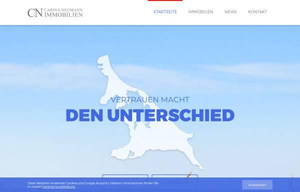 Vorschau von ostseeimmobilien-usedom.de, Immobilienmaklerin Carina Neumann