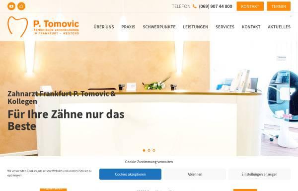 Vorschau von zahnarzt-frankfurt-tomovic.de, Zahnarzt P. Tomovic