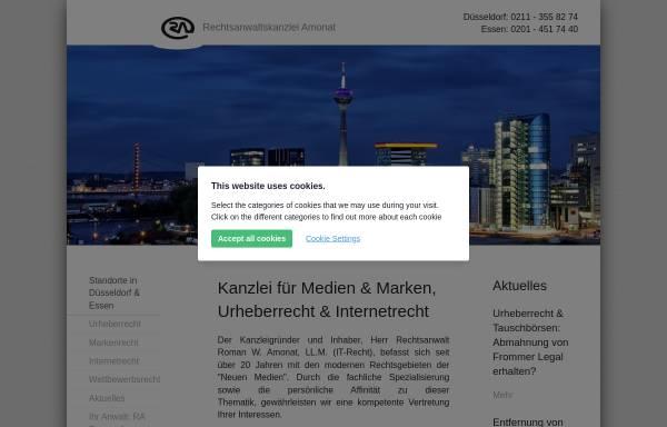 Vorschau von www.ra-amonat.de, Rechtsanwaltskanzlei Amonat