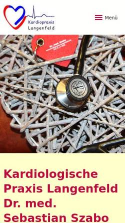 Vorschau der mobilen Webseite www.kardiopraxis-langenfeld.de, Kardiologische Praxis Dr. Szabo Langenfeld