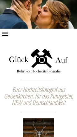 Vorschau der mobilen Webseite www.ruhrpics.de, Ruhrpics Hochzeitsfotografie by M. Tiemann