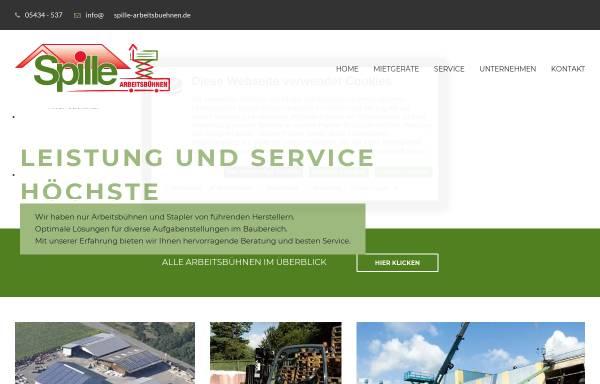 Vorschau von www.spille-arbeitsbuehnen.de, Arbeitsbühnenvermietung - Walter Spille GmbH