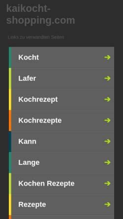 Vorschau der mobilen Webseite kaikocht-shopping.com, KAIS Delikatessenhop Kaikocht