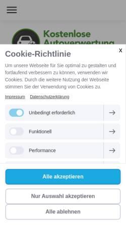 Vorschau der mobilen Webseite www.autoverwertung-leipzig.info, Autoverwertung Leipzig