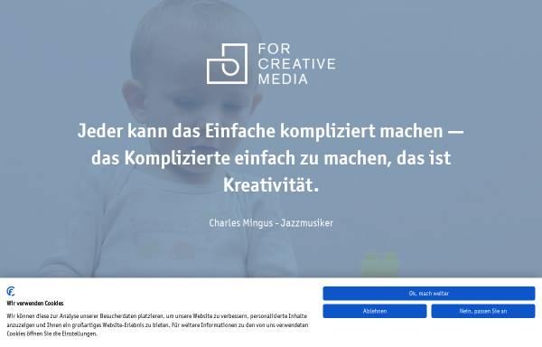 Vorschau von forcreativemedia.de, FOR CREATIVE MEDIA GmbH & Co. KG