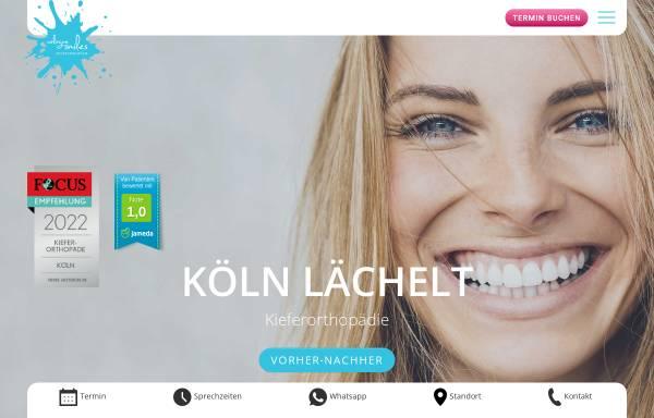 Vorschau von www.cologne-smiles.de, cologne smiles - Fachzahnarztpraxis für Kieferorthopädie