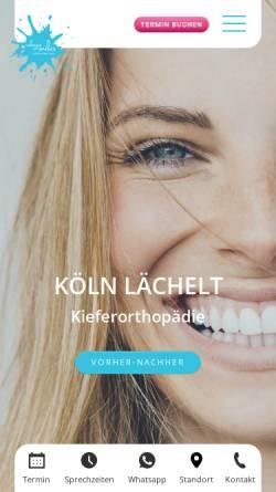 Vorschau der mobilen Webseite www.cologne-smiles.de, cologne smiles - Fachzahnarztpraxis für Kieferorthopädie