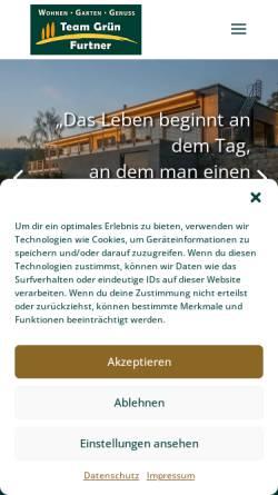 Vorschau der mobilen Webseite www.team-gruen-furtner.de, Team Grün Furtner Garten- & Landschaftsbau
