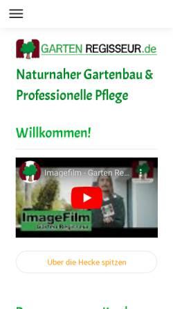 Vorschau der mobilen Webseite www.gartenregisseur.de, Garten Regisseur UG