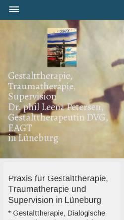 Vorschau der mobilen Webseite www.gestaltpraxis.net, Gestaltpraxis Dr. Leena Petersen