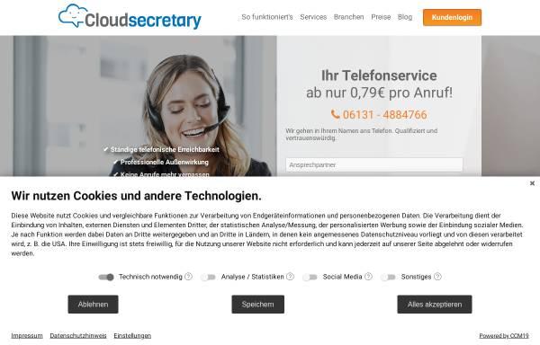 Vorschau von www.cloudsecretary.de, Cloudsecretary