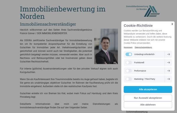 Vorschau von www.immobilienbewertung-im-norden.de, Patrick Görner, Immobilienbewertung im Norden
