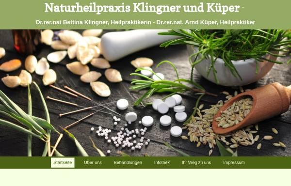 Vorschau von heilpraktiker-klingner-kueper.de, Naturheilpraxis Klingner und Küper