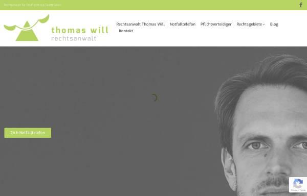 Vorschau von www.rechtsanwalt-will.com, Rechtsanwaltskanzlei Will