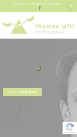 Vorschau der mobilen Webseite www.rechtsanwalt-will.com, Rechtsanwaltskanzlei Will