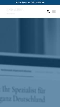 Vorschau der mobilen Webseite www.lindacher-arbeitsrecht.de, Lindacher Arbeitsrecht