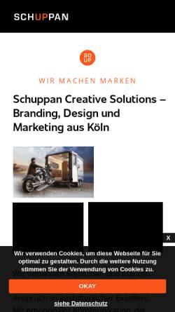 Vorschau der mobilen Webseite www.schuppan.design, SCHUPPAN CREATIVE SOLUTIONS