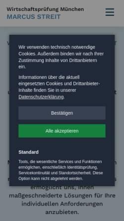 Vorschau der mobilen Webseite www.wirtschaftspruefung-muenchen.com, Marcus Streit, Wirtschaftsprüfer & Steuerberater