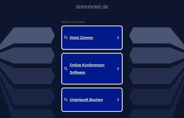Vorschau von www.dohmhotel.de, Dohm-Hotel Herford