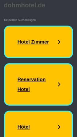 Vorschau der mobilen Webseite www.dohmhotel.de, Dohm-Hotel Herford