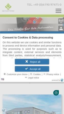 Vorschau der mobilen Webseite www.suz-elektronik.de, S&Z Elektronik GmbH
