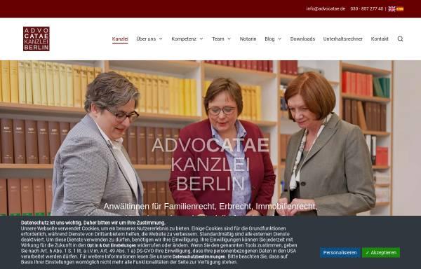 Vorschau von www.advocatae.com, Advocatae Groppler Silbermann PartG
