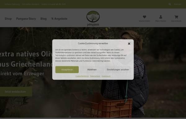 Vorschau von www.pangaea-olivenoel.de, Pangaea - Olivenöl aus Griechenland