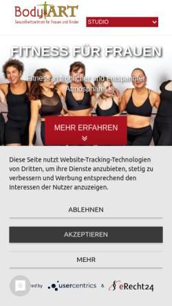 Vorschau der mobilen Webseite www.body-and-art.de, Body & ART - Gesundheitszentrum für Frauen und Kinder