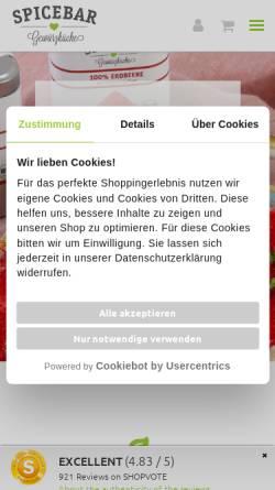 Vorschau der mobilen Webseite www.spicebar.de, Spicebar GmbH