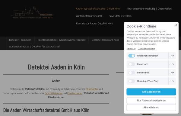 Vorschau von www.aaden-detektive.de, Aaden Wirtschaftsdetektei